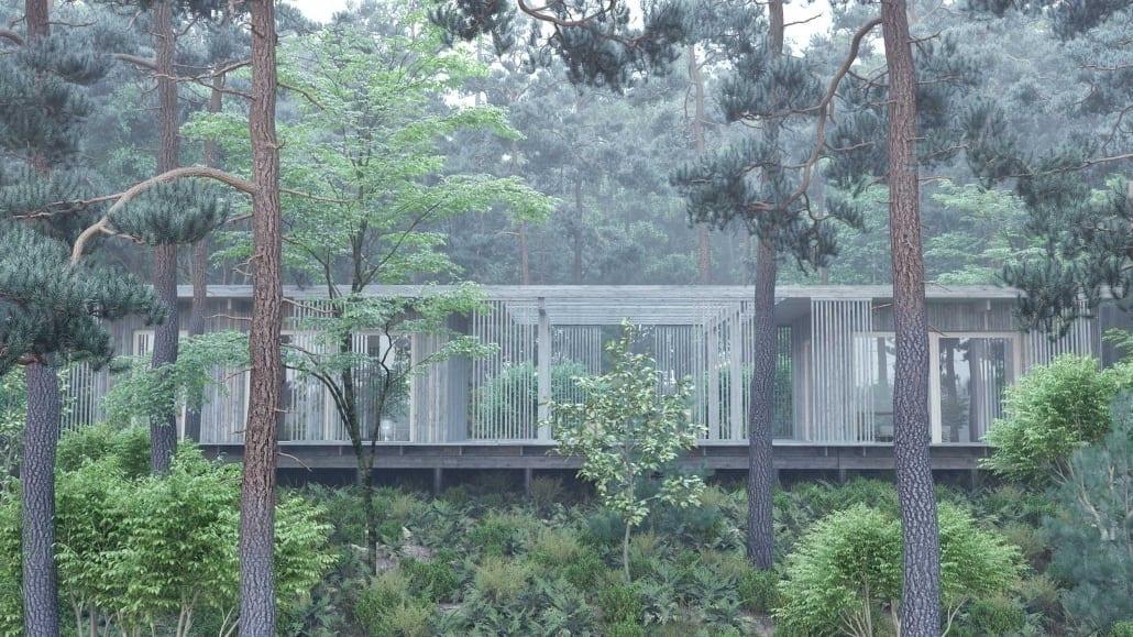 Fritidshus i naturen