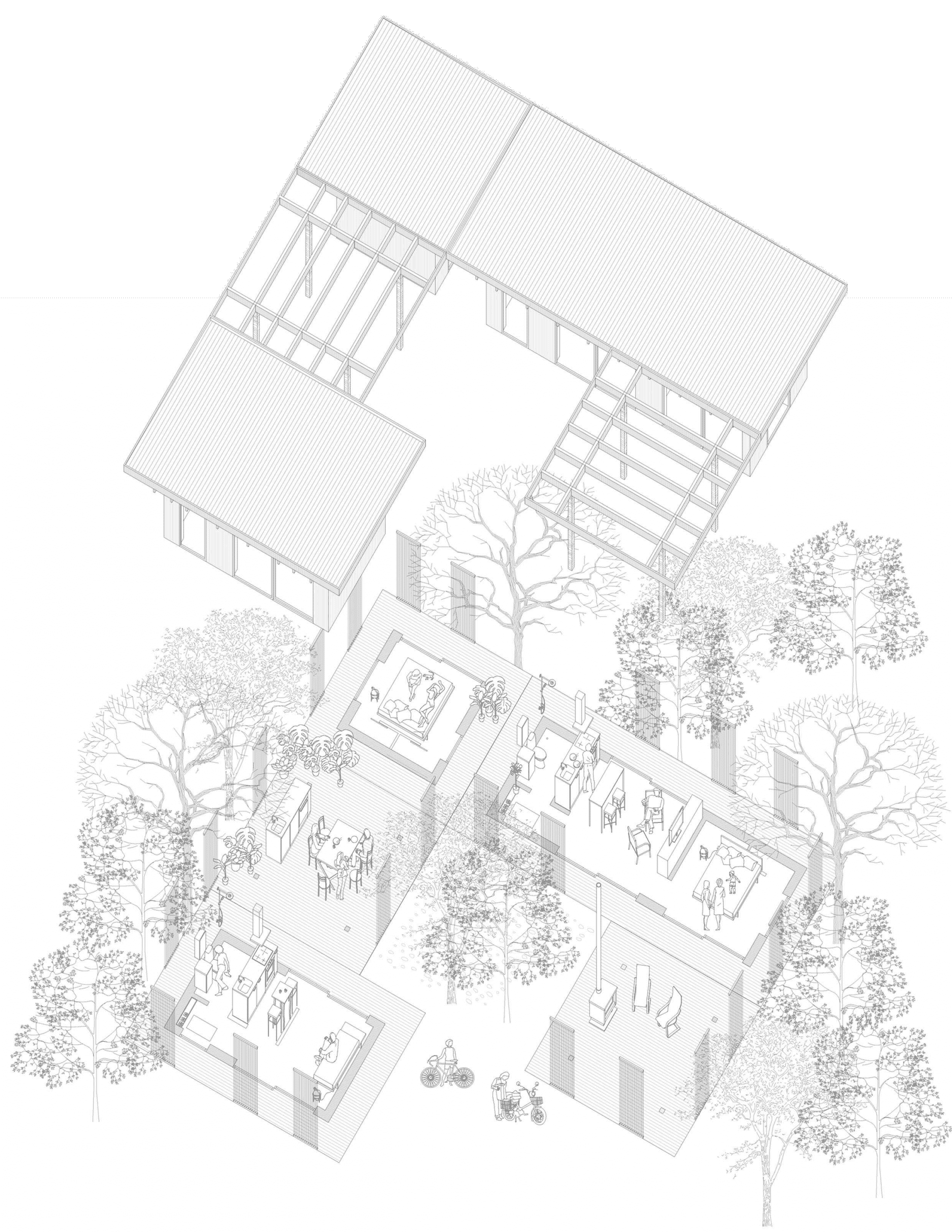 Förslag på kombination av attefallshus