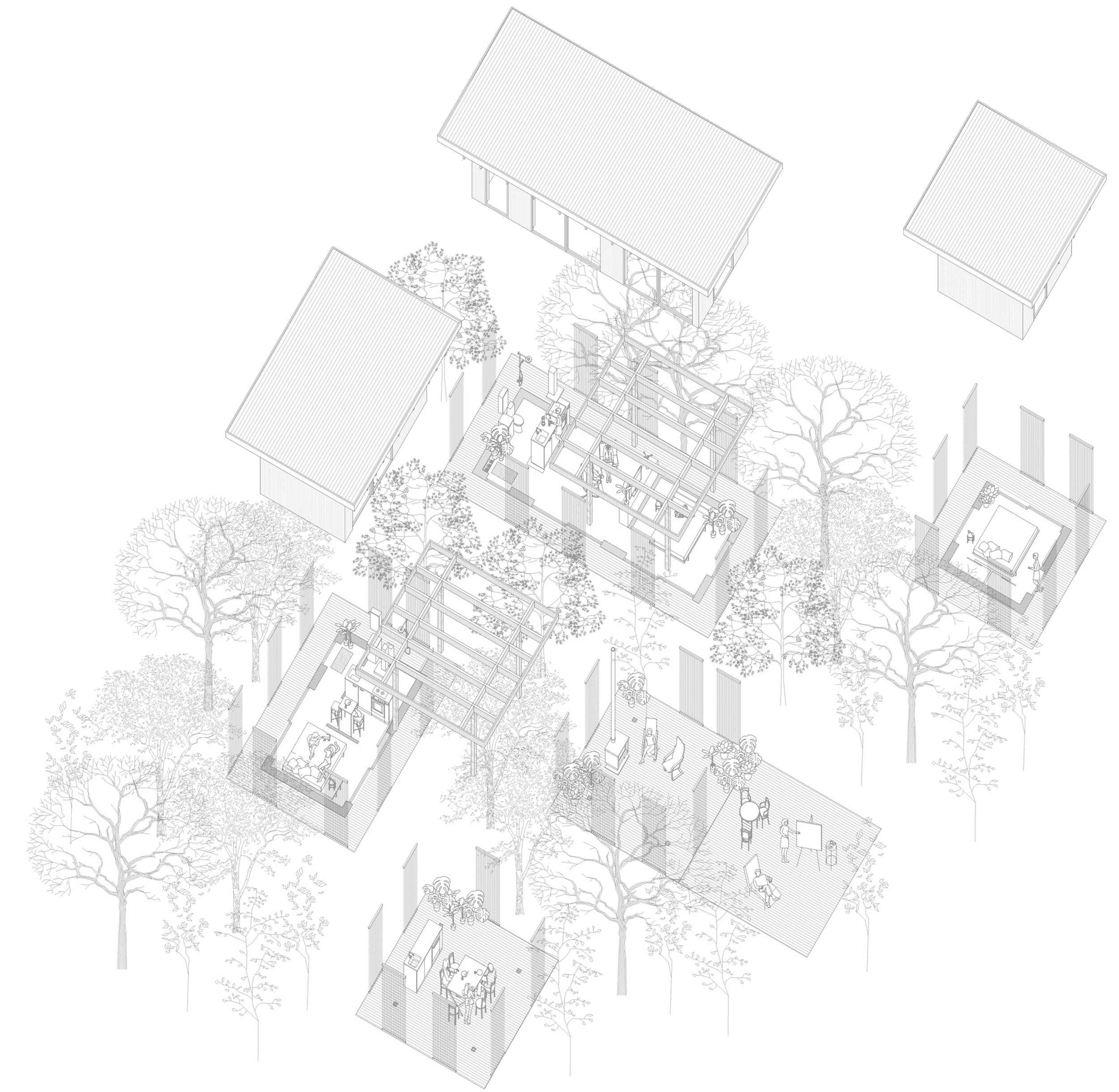 Konceptbild av nyckelfärdiga hus