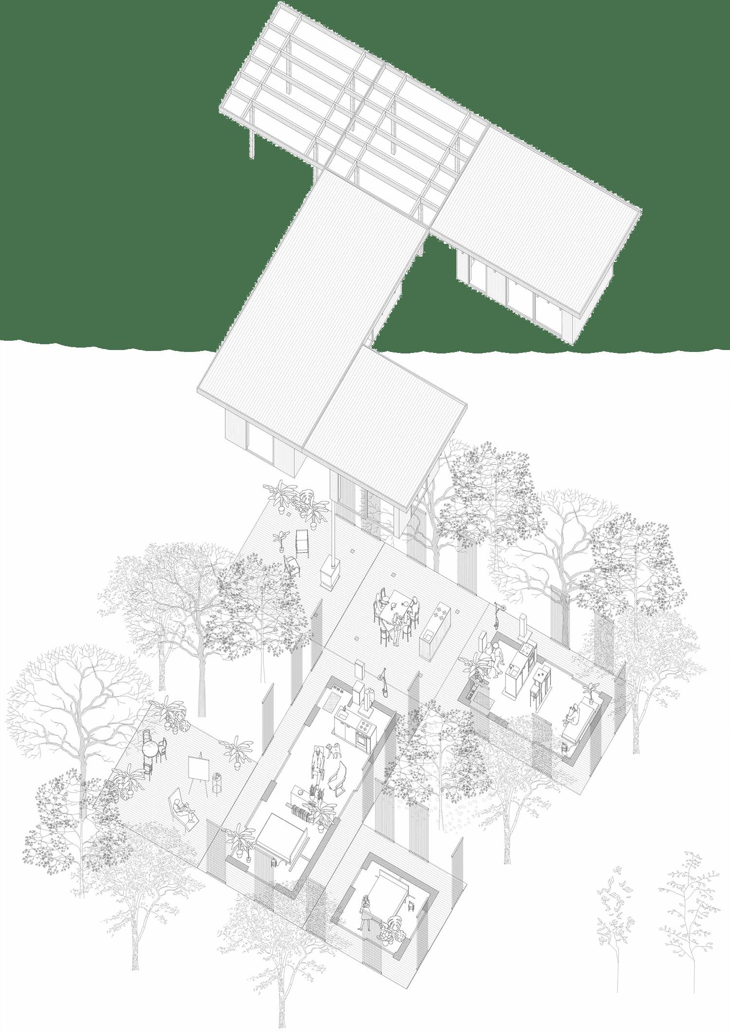 Sommarhus som kan kombineras
