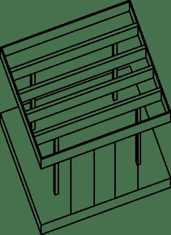 Pergola och soldäck till arkitektritat hus