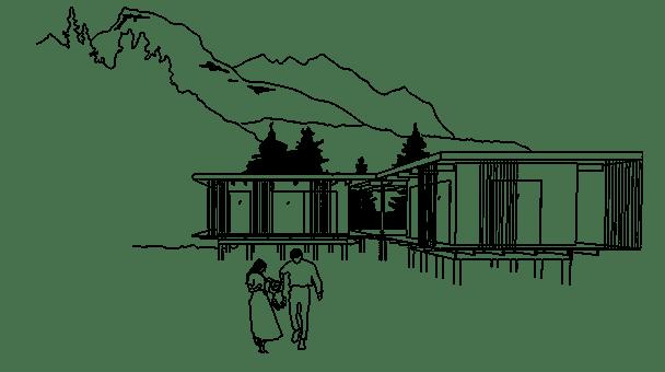 Nyckelfärdigt hus som är arkitektritat