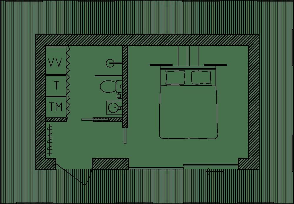 Planritning arkitektritat attefallshus