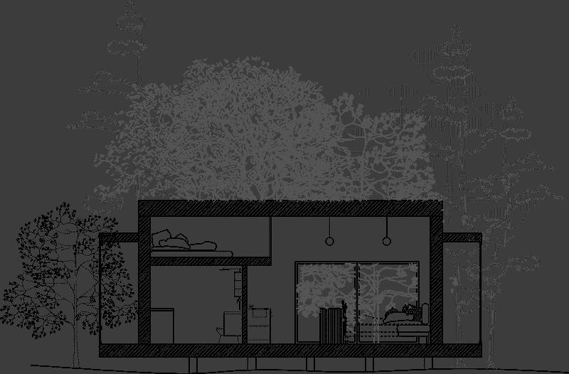 Attefallshus med loft